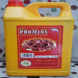 Dịch trùn quế promin dùng cho tôm cá can 5 lit